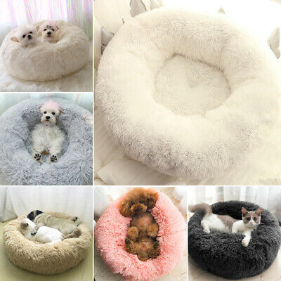 Dog Cat Pet Calming Bed Beds Large Mat Comfy Puppy Washable Fluffy Cushion Plush • 16.95£