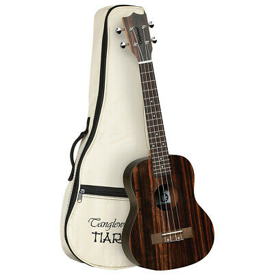 AU169 • Buy Tanglewood TWT19B Tiare Tenor Ukulele All Figured Ebony W/Gig Bag