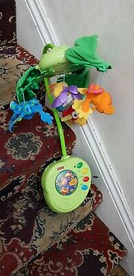 £10 • Buy Fisher-Price Rainforest Peek-A-Boo Leaves Musical Mobile Cot Bed Baby Toy/Remote