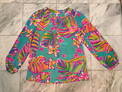 $7.50 • Buy Lilly Pulitzer Elsa 100% Silk Top Small 41773 As-Is