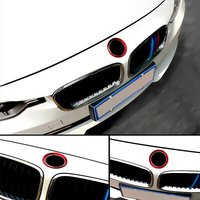 $10.50 • Buy New 2x Red Car Front Rear Logo Ring Decoration Sticker For BMW 3 4 Series M3 M4