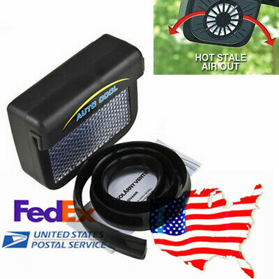 $14.88 • Buy Monocrystallinesilicon Car Window Air Vent Cooling Fan Cooler Radiator (Solar)US