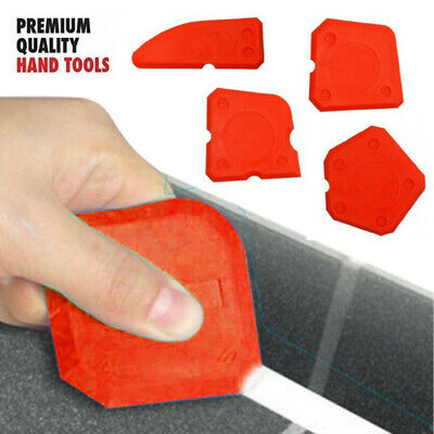 4 Pcs Silicone Sealant Spreader Profile Applicator Tile Grout Tools Kit UK SHOP • 4.25£
