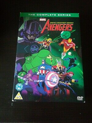 Dvd Marvel Earths Mightiest Heroes The Avengers Complete Series 8 Discs • 5.99£