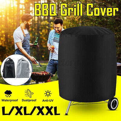 $ CDN18.13 • Buy BBQ Grill Cover Barbecue Round Smoker Cover Protector Waterproof Garden Patio