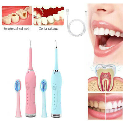 $14.99 • Buy Electric Ultrasonic Dental Scaler Tooth Stains Tartar Cleaner Teeth Whiten USA E