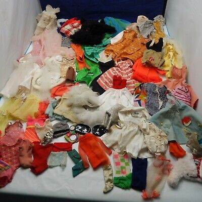 $ CDN91.17 • Buy VINTAGE BARBIE FRANCIE MIDGE 1960's HUGE TLC LOT Of OUTFITS CLOTHING CLOTHES