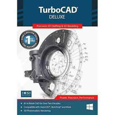 TurboCAD Deluxe 2020 DVD - 2D Design And 3D Modeling CAD Design Software • 143.06£