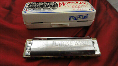 $22 • Buy Marine Band M. Hohner No. 1896 Germany - In Original Box Excellent!