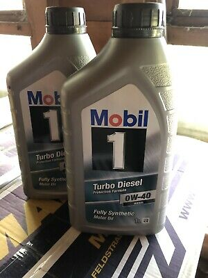 Mobil 1 Turbo Diesel 0w40 Fully Synthetic Oil 1 Ltr X2 • 19.99£