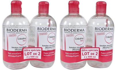 £35.96 • Buy Bioderma Crealine H2O Micelle Solution 2 X 500ml Make Up Remover FREE POST UK