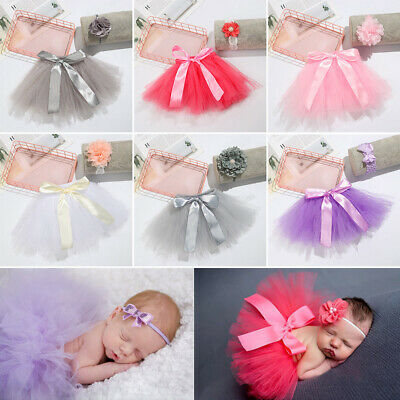 Newborn Photography Accessories Costume For Babies Princess Baby Tutu Skirt • 3.89£