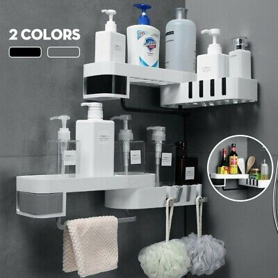 AU16.98 • Buy Shower Corner Shelf White Caddy Bathroom Shelves Organiser Bath Storage Rack