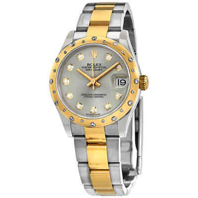 $ CDN20455.55 • Buy Rolex Datejust 31 Automatic Silver Diamond Dial Ladies Steel And 18kt Yellow