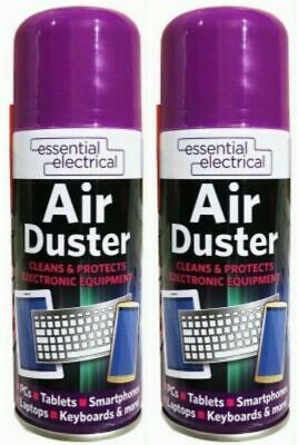 2 X Compressed Air Duster Spray Can Clean Laptop Keyboard 200ml. FREE UK POST • 6.89£