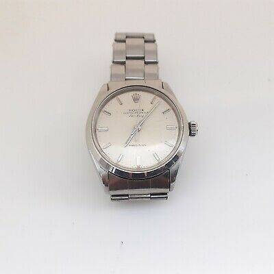 $ CDN3926.35 • Buy Vintage Rolex Air King Steel Automatic Silver Oyster Watch 5500 Circa 1969