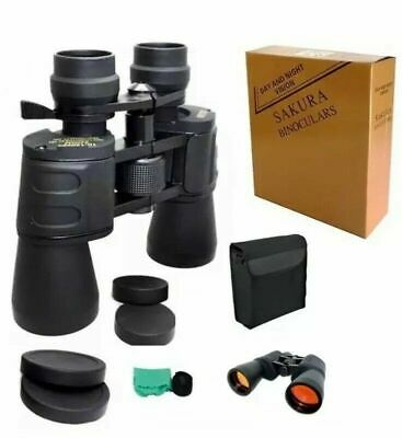 SAKURA Day Night Vision 10 X 70 X 70 ZOOM Powerful Binoculars 235FT/1000 YARDS • 26.98£