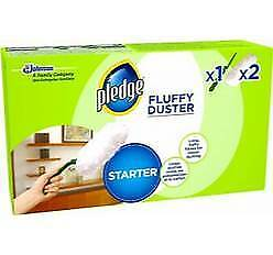 Pledge Fluffy Dusters Starter Kit Dry Dusting Cleaning Cloth Pack Or REFILL UK • 7.99£