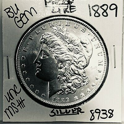 $20.52 • Buy 1889 Bu Gem Morgan Silver Dollar Unc Ms++ Genuine U.s. Mint Rare Coin 8938