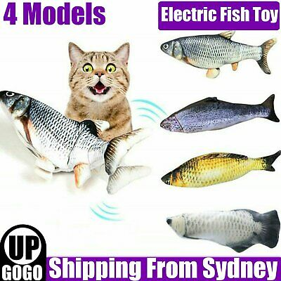 AU13.29 • Buy Electric Fish Cat Toy Wagging Fish Realistic Plush Simulation Catnip AU STOCK
