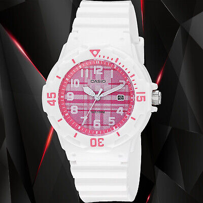 $ CDN21.56 • Buy Casio LRW200H-4C Women's Watch Analog White Band Pink Dial Date 100m WR New