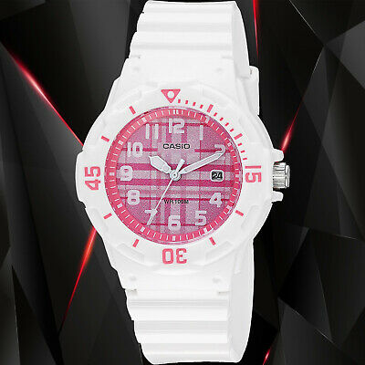 $ CDN24.30 • Buy Casio LRW-200H-4C Women's Watch Analog White Band Pink Dial Date 100m WR New