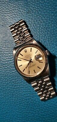 $ CDN5751.74 • Buy Rolex 16234 Oyster Datejust Inedx Silver Dial Automatic Watch Quick Set