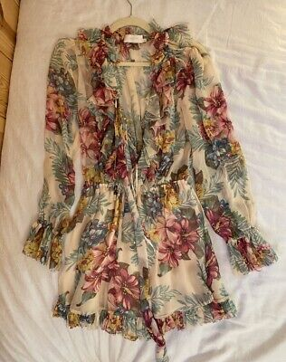 $300 • Buy NWT Authentic Zimmermann Painted Heart Ruffle Dress Size 0 1 2