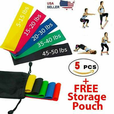 $ CDN9.66 • Buy Resistance Bands Workout Loop Set 5 Legs Exercise CrossFit Fitness Yoga Booty