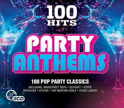 Various Artists : 100 Hits: Party Anthems CD Box Set 5 Discs (2016) Great Value • 3.95£