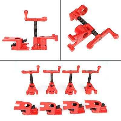 £29.10 • Buy 4 Set 3/4'' Professional Wood Gluing Pipe Clamp Woodworking Cast Iron Heavy Duty