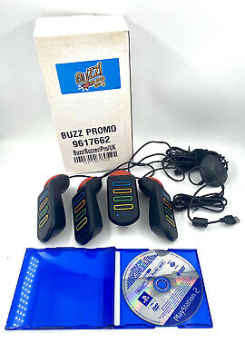 Buzz PS2 Promo Buzzers With Box And The Music Quiz - Collectors Item • 39.99£