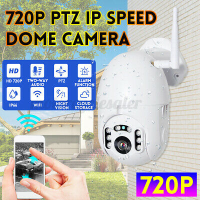 Wireless Smart Outdoor 720P WiFi Dome PTZ IP Camera Dome Security Night  • 26.41£