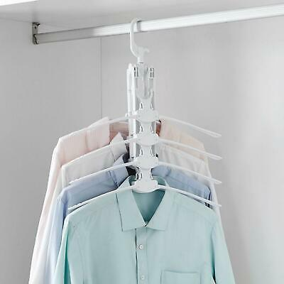 £4.95 • Buy Magic 8 In 1 Folding Clothes Coat Rack Travel Hanger Storage With 360° Rotation