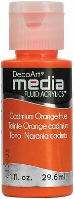 DecoArt Media Fluid Acrylics Paint 1oz-Cadmium Orange (Series 3) -DMFA-15 • 7.44£