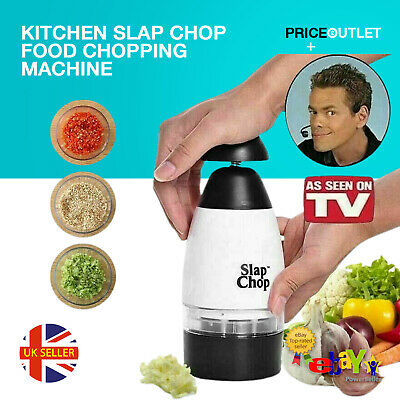 Kitchen Slap Chop Food Chopping Machine Tool Cutter Fruit Vegetable Slicer New • 5.99£