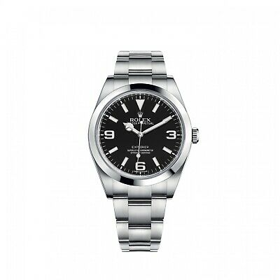 $ CDN10423.48 • Buy Rolex Explorer Steel Black Dial 39 Mm Automatic Watch 214270 With Papers 2020