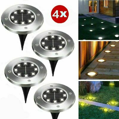 Solar Powered LED Spot Lights Ground Garden Lights Outdoor Waterproof Path Lamps • 7.55£
