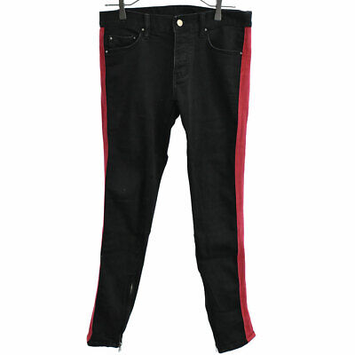 $ CDN108.74 • Buy MNML Damaged Side Line Tape Hem Zip Denim Pants Black