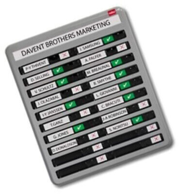 Nobo In/Out Board With 20 Names Capacity And Effective Sliding Indicator • 230.82£
