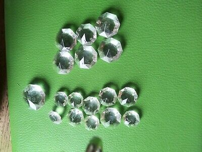 $1.20 • Buy Clear Plug Plastic Prism Roundish /Octoish Embellishments 16pcs....Clear..