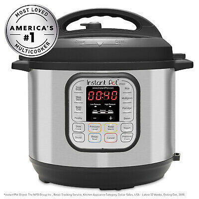 $108 • Buy Instant Pot DUO60 6-Quart 7-in-1 Multi-Use Programmable Pressure Cooker