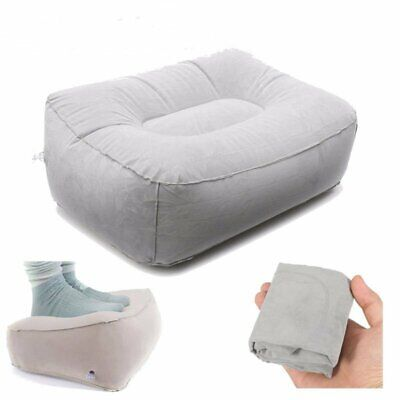 AU15.99 • Buy Inflatable Foot Rest Pillow Cushion Air Comfortable Travel Office Home Leg Relax