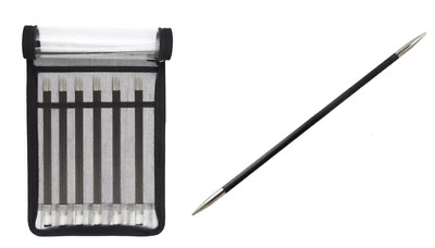 £63.98 • Buy KnitPro Karbonz Double Pointed Needle Sock Kit 20cm, Black And Silver