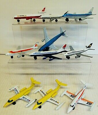MATCHBOX SKYBUSTERS 10 Assorted Used Planes INC Boeing 747-A 300B & LEARJET • 15£