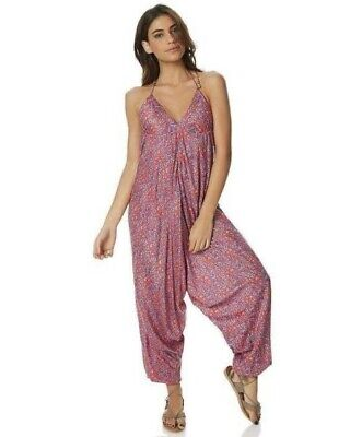 AU25 • Buy Tigerlily Harem Jumpsuit Pink Paisely One Size