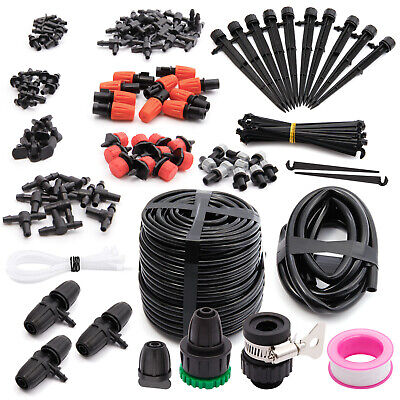 40m Micro Drip Irrigation System Plant Self Watering Garden Hose Kits Drippers • 19.99£
