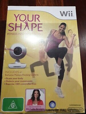 AU47.50 • Buy Your Shape - Nintendo Wii Game + Motion Tracking Camera Bundle In Box PAL Aus