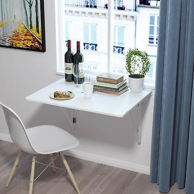 Folding Wall-mounted Table Drop-leaf Dining Desk PC Computer Tables With Bracket • 42.99£