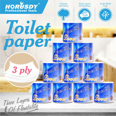 AU19.99 • Buy 10-Rolls Premium Toilet Paper 3 PLY Soft Bath Tissue Value Pack Melbourne Stock